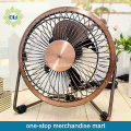 Electrical Bronze Mini Desk Fan with USB recharge