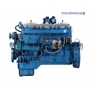 Двигатель G128, 308 кВт, Дизельный двигатель Shanghai Dongfeng для генераторной установки