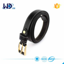 2016 Ladies Debossed Black Leather Belts