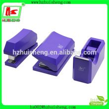 wholesale stationery set stapler+hole punch+tape dispenser 3 in 1 stapler