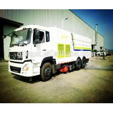 4x2 camion balayeur de route de DongFeng avec l'eau 2cbm et le réservoir de la poussière 4cbm