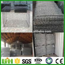 Alibaba China caliente sumergido galvanizado banco de río proteger gabion cesta / gabion caja