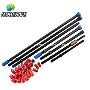 Tapered rock drill rod