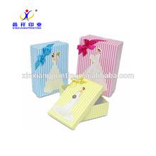 Caja de regalo de papel al por mayor de la fábrica, caja de papel de regalo de alta calidad