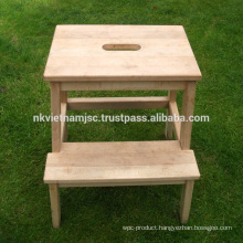 Acacia Step Stool 45x39x50 cm Made in Vietnam