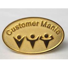 Goldmalerei-kundenspezifische Metallpin-Abzeichen
