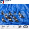 la couleur bleue aluminium oeillet 150gsm pe bâche