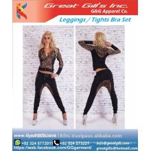 2016 latest design fashional quick dry women's sexy sportswear set leggings and bra tights set