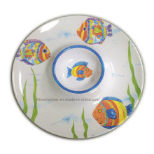 Melamine Chip and DIP Tray with Logo (TR3240)