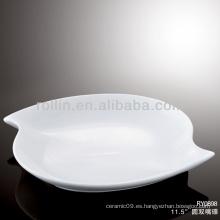 Multa duradera de porcelana blanca horno seguro hotel vajilla