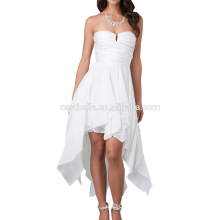 Fashion design custom made Color plus size cocktail dress for fat lady