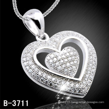 925 Silver Heart Shap Pendant (B-3711)