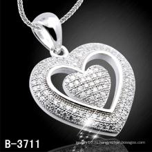 925 Серебряный Кулон Сердце Шап (Б-3711)
