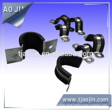 fixing clamp with rubber hose clamp