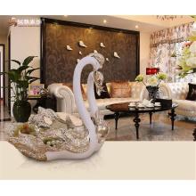Décoration intérieure ornements en résine artisanale animal personnalisé amour couple assiette de résine de cygne