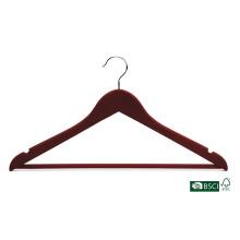 Personalizado acabamento roupas camisa de madeira cabide