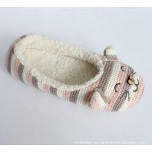 Zapatillas de interior para mujer con Kint y bordado