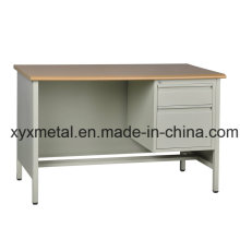 Industrial Steel Furniture Prices Wooden Top Metal Body Cheap Modern Office Desk
