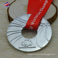 Factory wholesale english text and logo ribbon with special medals