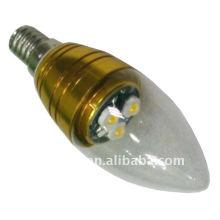Alta potencia 3 w e27 brillo led luz de la vela