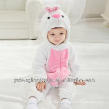 Promotional Plush White Rabbit Baby Romper