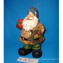 Natal Santa decorativa com grinalda e presentes