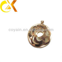 wholesale dealer stainless steel jewelry gold flower pendant for women