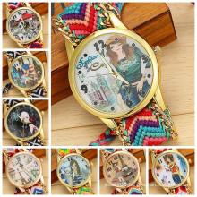 2015 new product 10 designs Geneva Handmade Weave DIY Lady Watch Fashion watch women