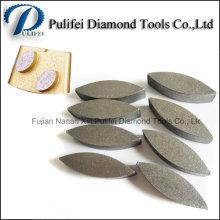 Segment de meulage ovale de dents molles d'outils de segment pour le moulin de plancher