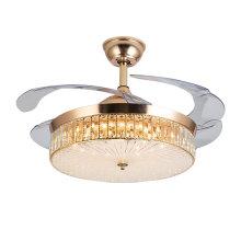 Modern Golden Crystal Ceiling Fan Light Chandelier Fan Lighting