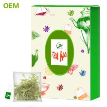 Diy personalizado de alta qualidade do selo de calor em forma de pirâmide de malha de nylon vazio jiaogulan herbal bag / triângulo sacos de chá com corda
