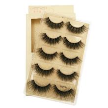 3d mink 5 pairs eyelashes natural long thick halloween lashes with lash box wholesale
