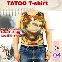 2016 hot sale ladies and gentlemen short sleeve tattoo t-shirt