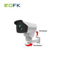 Câmera a menor a menor do CCTV da segurança da bala do IP PTZ da lente de zoom de 2.0MP 1080P 10X