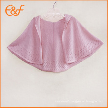 Custom Knitted Poncho Hooded Cloak For Baby Girls