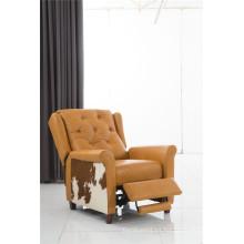 Sofá eléctrico del reclinatorio del sofá del cuero de la calesa del cuero genuino (781)