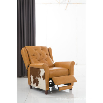 Genuine Leather Chaise Leather Sofa Electric Recliner Sofa (781)