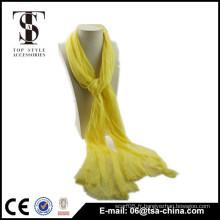 NOUVEAU! Echarpe jaune à la mode Viscose Châle de beauté en dentelle pour femme
