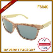 F6040 handgefertigte hochwertige beliebte Bambus Sonnenbrillen Großhandel in China