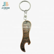 Custom Promotional Gift Antique Alloy Metal Bottle Opener with Keychain