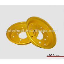 Yellow Split forklift wheel rim 3.50D-8
