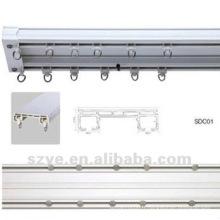 Rail à double rideau en plastique PVC