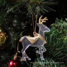 Plastic Glitter Christmas decoration plastic figure