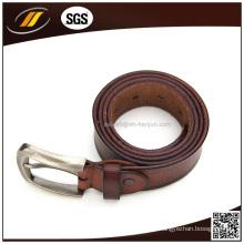 Venta caliente marca superior profesional cuero real cinturón marrón