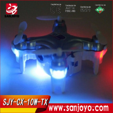 2.4G RC mini quadcopter drone mini CX-10W-TX with hd camera professional wifi control camera drone
