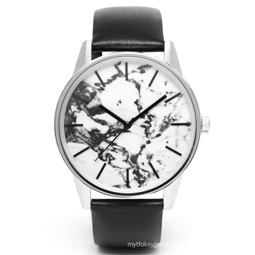 Special Designing Stainless Steel Fashion Watch with Marble Dial Bg362