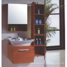 Armário do banheiro do assoalho de madeira de Solide (B-337)