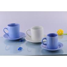 Taza y platillo de cerámica Cappuccino (CZJM2130)