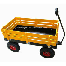 Factory Outlets Center Classical Red Wagon with Wooden Stake