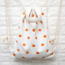benutzerdefinierte Baumwolle Leinwand Kordelzug Rucksack Tasche